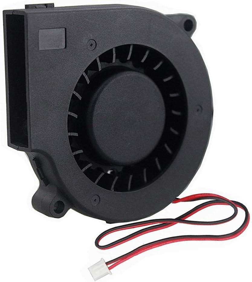 GDSTIME 75mm Blower Fan 2PIN, 75mm x 15mm Cooling Blower Fan, 5V DC Brushless Cooler Fan