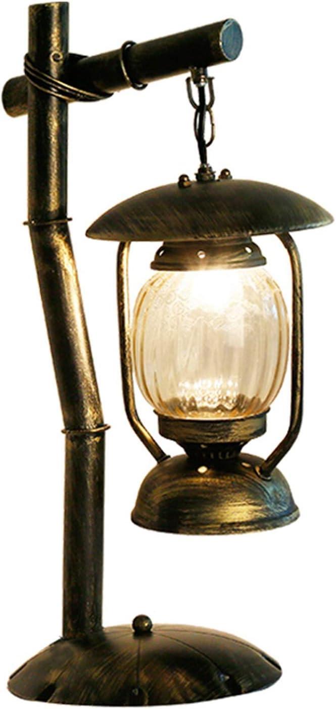 Zytyek lámpara de escritorio Lámpara de mesa retro Hierro forjado lámpara de escritorio, la personalidad de caballos Protección de los ojos lámpara de lectura lámpara de escritorio antiguo Cafetería E