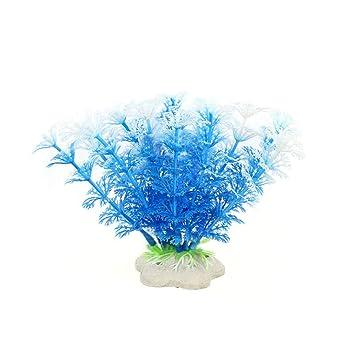 FZZ698 6 piezas pecera de plástico decoración para acuario verde plantas agua hierba adorno planta casa