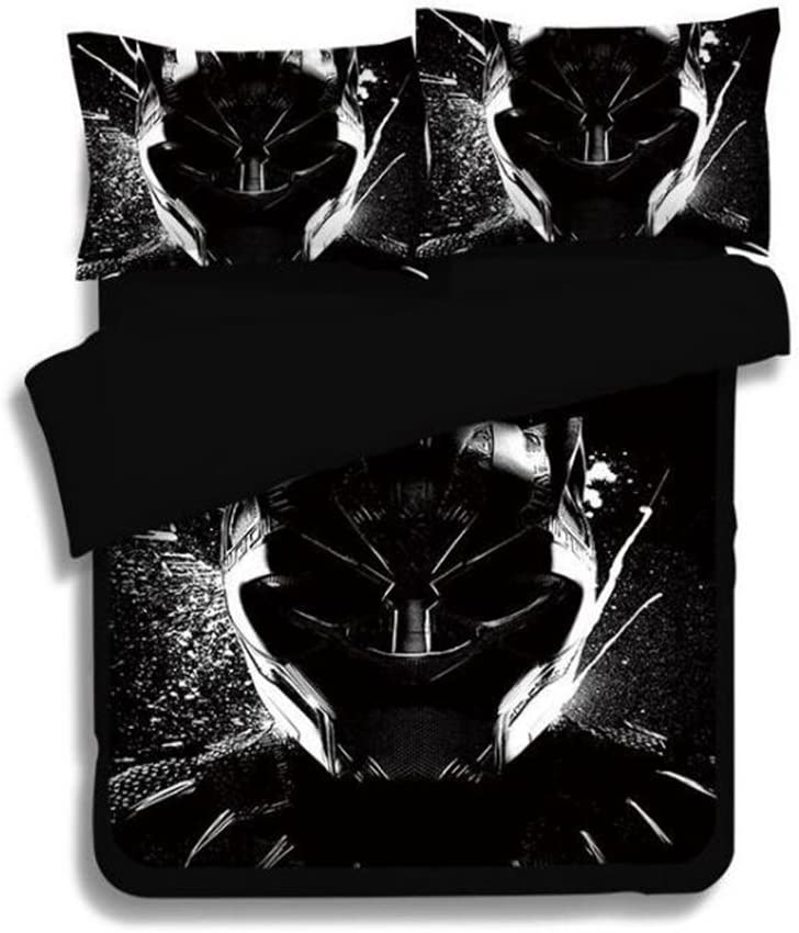 Imcneal 3Pcs Black Panther Duvet Cover 3D Bedding Sets Fashion Bed Sheets Queen Sizes
