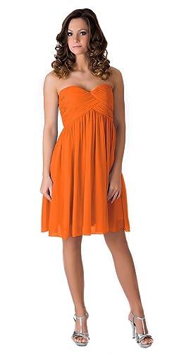 Faship Womens Elegant Short Pleated Formal Dress