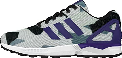 sports shoes 30b01 a4373 adidas zx flux white purple grey torsion sports trainers