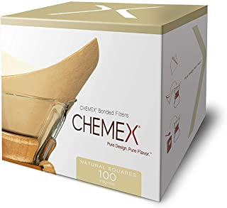product image for Chemex Natural Coffee Filters, Square, 100ct - Exclusive Packaging(100 filters per pack)