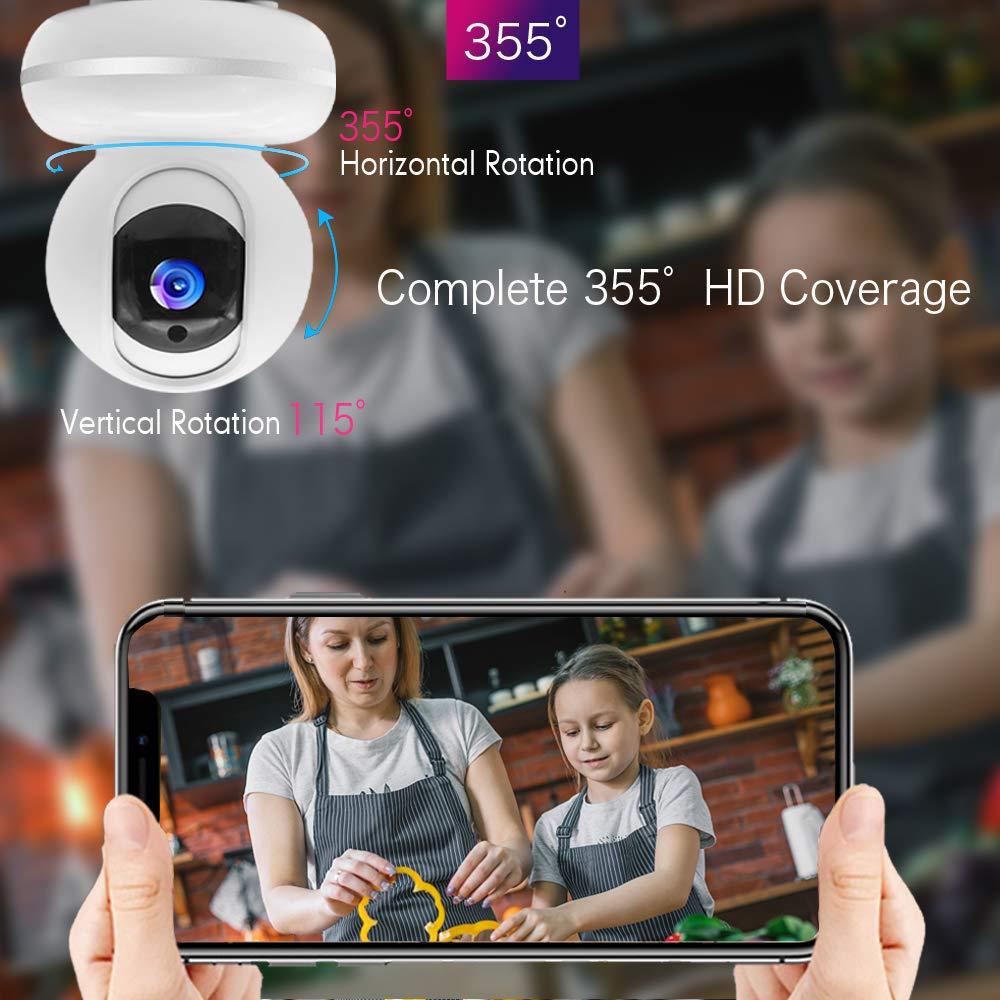 WLAN IP Kamera /Überwachungskamera 1080P IP Camera WiFi Mibao mit Nachtsicht 2 Wege Audio Smart Schwenkbar Home Camera Haustier Baby Camera IP Kamera App Kontrolle Unterst/ützt Fernalarm/…