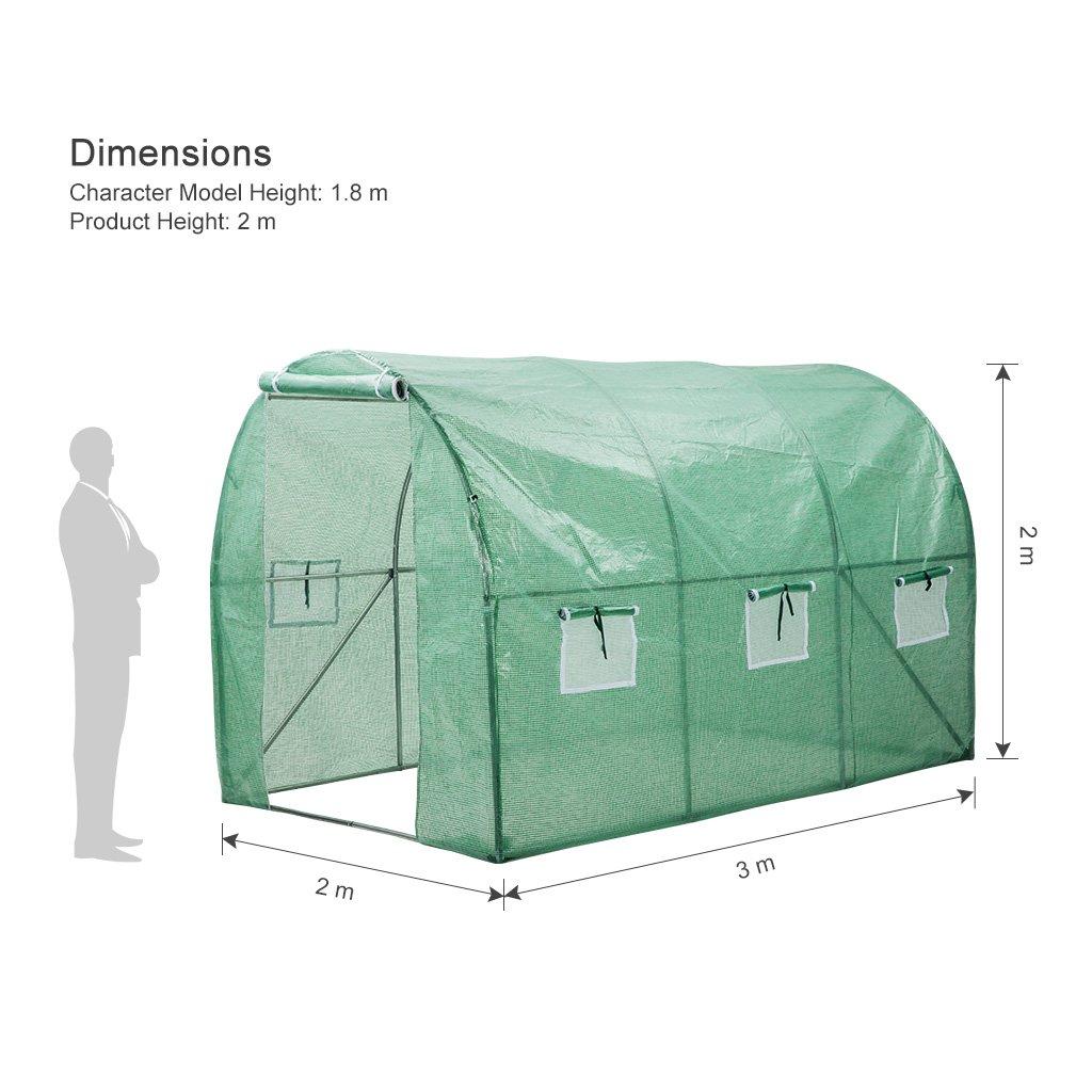 Finether-Invernadero Arqueado con 6 Respiraderos de Malla y Tapa Transparente, Ideal para Jardín, Balcón, Patio etc: Amazon.es: Jardín