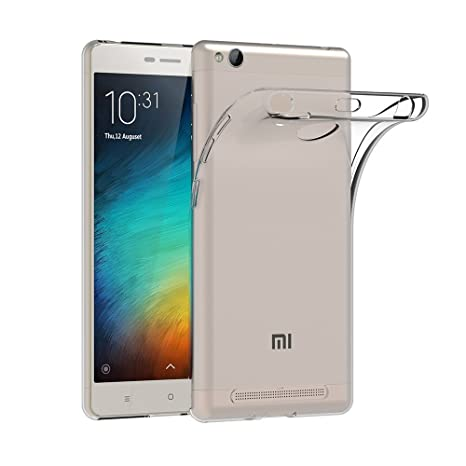 lowest price 10304 03cb6 MTT Crystal Clear Back case Cover for Redmi 3S Prime/Redmi 3 (Clear)