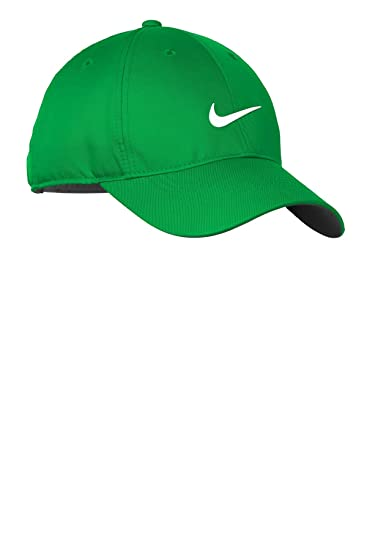 48d9825c6 Nike Golf Dri-FIT Swoosh Front Cap, Lucky Green/White, OS