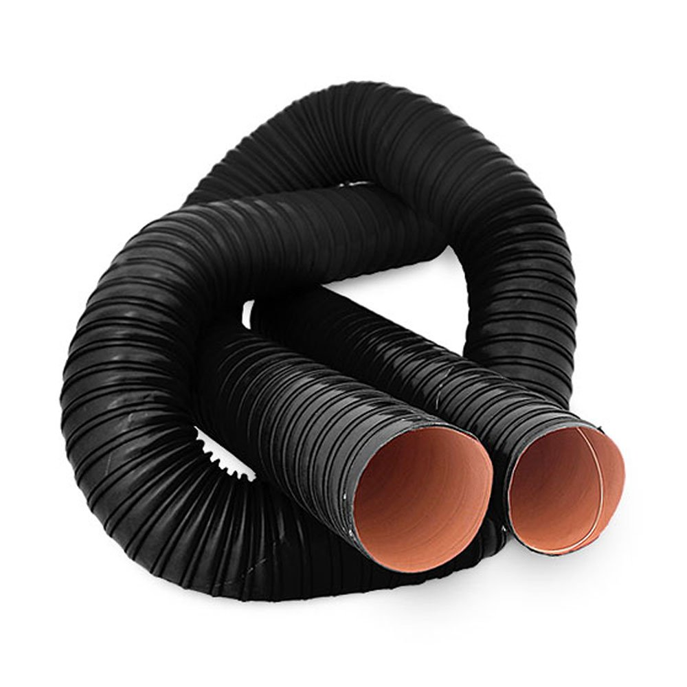 70mm ID 1 Metre Length 2 PLY Black Silicone Ducting AutoSiliconeHoses