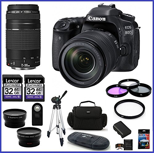 canon-eos-80d-dslr-camera-with-18-135mm-lens-usa-canon-ef-75-300mm-f-4-56-iii-lens-32gb-memory-cards