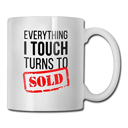 Amazon com | Funny Quotes Mug With Sayings - Real Estate