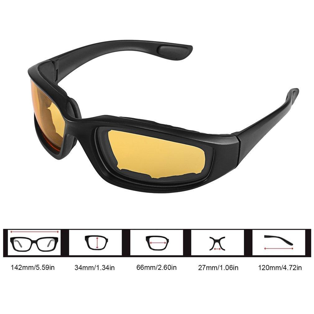 FairytaleMM Gafas de Moto a Prueba de Viento a Prueba de Polvo anteojos Gafas anteojos al Aire Libre