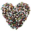 Bepo 700 Pcs Acrylic Craft Jewels Gems Gemstone Embellishments Flatback Bling Shapes Gems Star Square Heart Oval and Round
