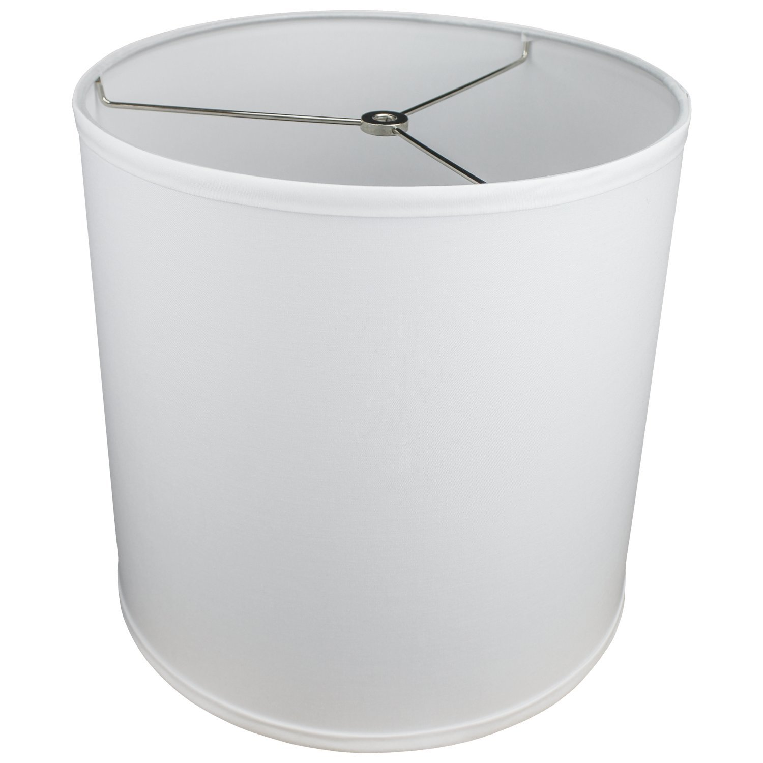 FenchelShades.com 12'' Top Diameter x 12'' Bottom Diameter 12'' Height Cylinder Drum Lampshade USA Made (White)