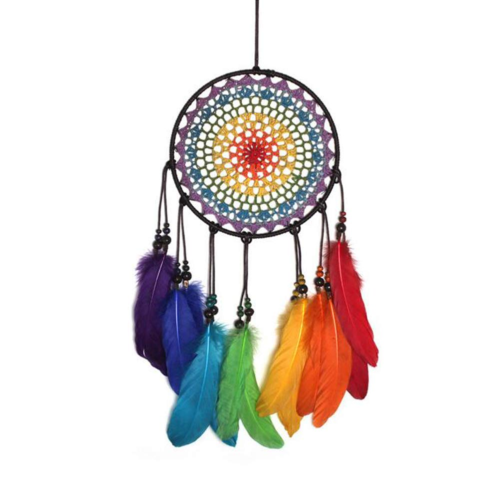 Malicosmile Dream Catchers for Kids, Colorful Feather Dream Catcher Decorations for Bedroom Handmade Dreamcatcher (About 23.6 inch)