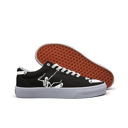 womens Skateboarding Shoes Canvas skateboarding skeleton Sport Sneaker