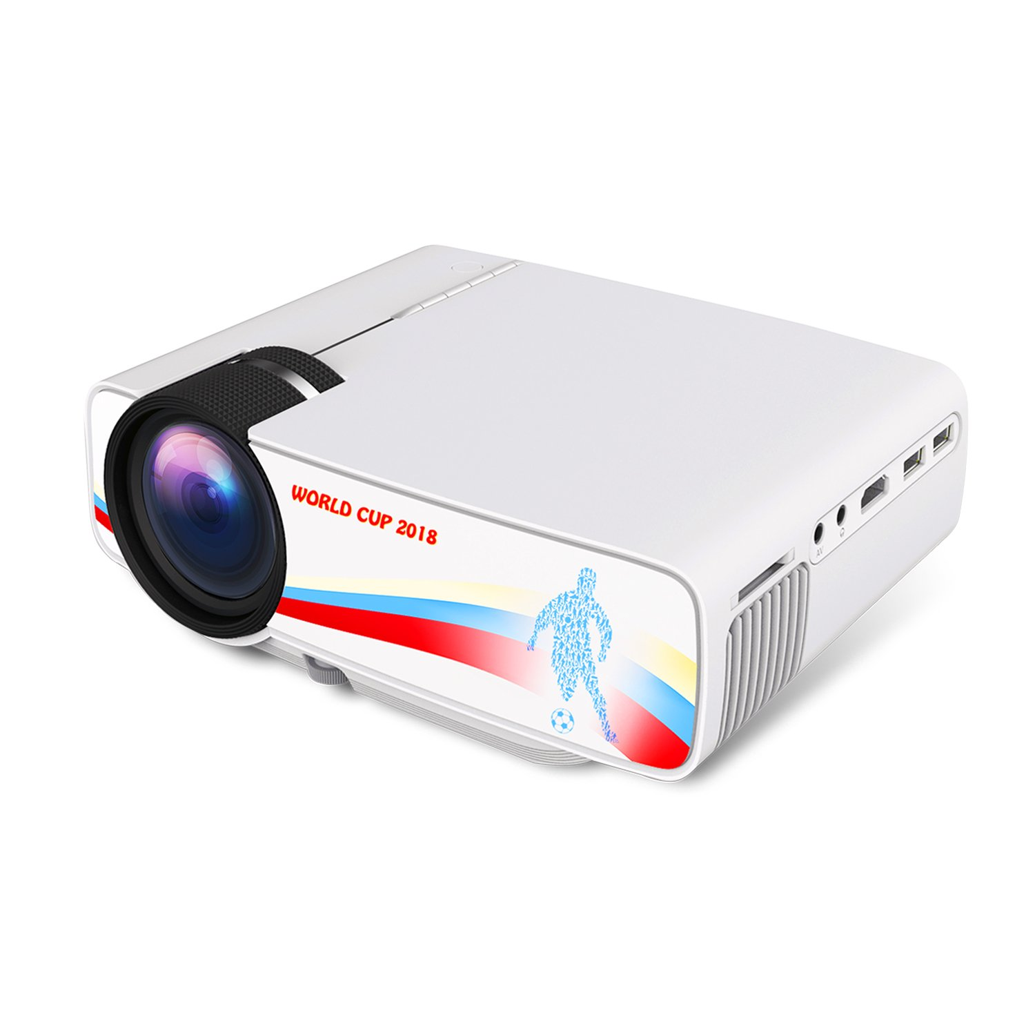 Video Projector Mini Portable Projector Laptop Home Theater System projectors LED Full HD 1080P Movie Screen Sports TV DVD Smartphone Projector with HDMI USB VGA AV for iPhone Andriod Ipad PS4 Camera by Beamerking