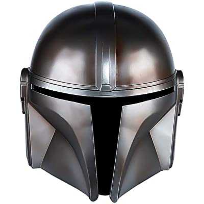 BBBL The Mandalorian Helmet Boba Fett Deluxe Helmets Super Hero Halloween Cosplay Costume Accessories Props Toys for Men Grey: Clothing