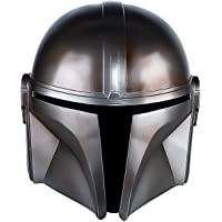 ZMJ The Mandalorian Helmet Deluxe Full Face Latex Mask Halloween Party Cosplay Props Grey