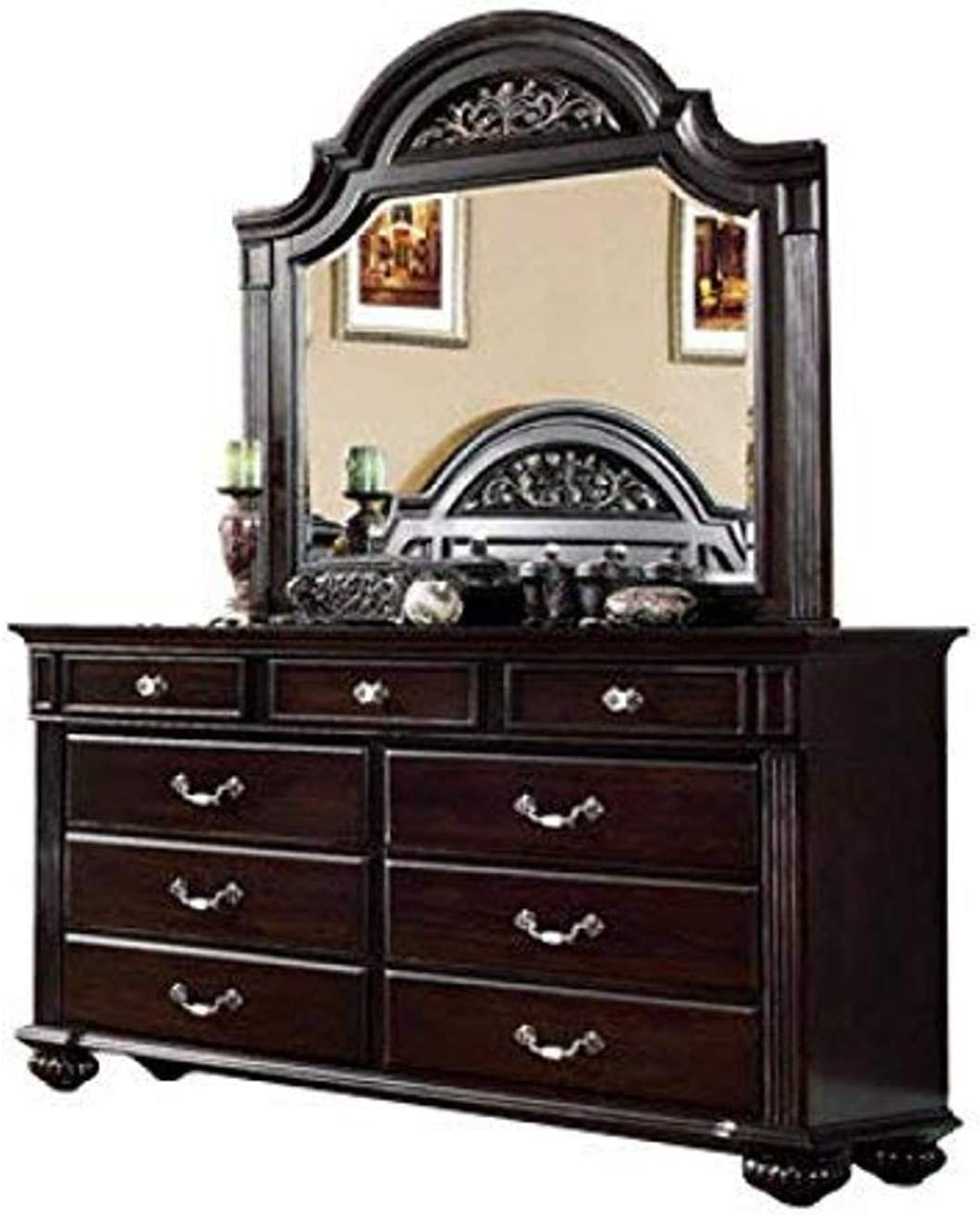 Furniture of America Dresser, Dark Walnut