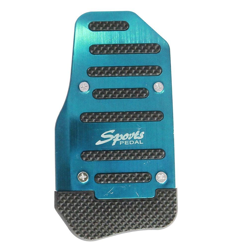 ZNYSTAR 3 PCS de Plata Universales Pedales Antideslizantes del Coche,Color Azul ,de Aluminio: Amazon.es: Coche y moto