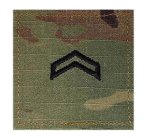Army CPL ROTC Cadet Rank OCP Scorpion with HOOK Fastener-CORPORAL (Rotc Insignia Rank)