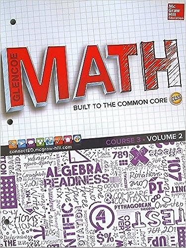 Amazon com: Glencoe Math, Course 3, Student Edition, Volume