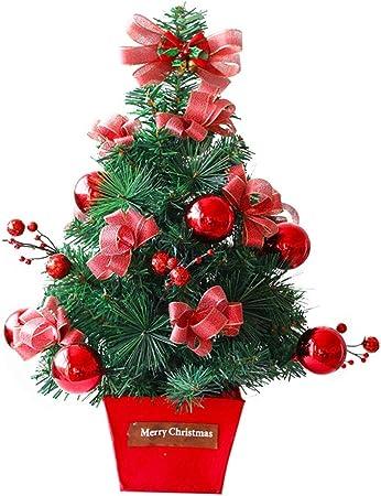 Forart Árbol de Navidad de mesa de 18 pulgadas, mini árbol de Navidad artificial Adornos de Navidad para Navidad Decoración de hogar Mesa Decoraciones de invierno: Amazon.es: Hogar