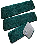 Turkey Creek Essentials SLIM20 20 Inch Microfiber Mop Pads Washable Commercial Quality Replacement Refills (3)