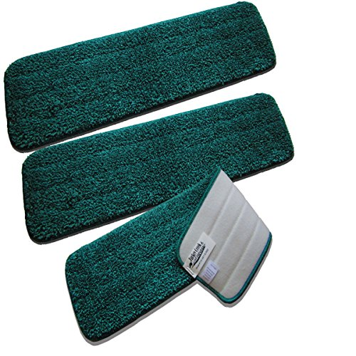 SLIM20 20 Inch Microfiber Mop Pads Washable Commercial Quality Replacement Refills (3) from Turkey Creek Essentials