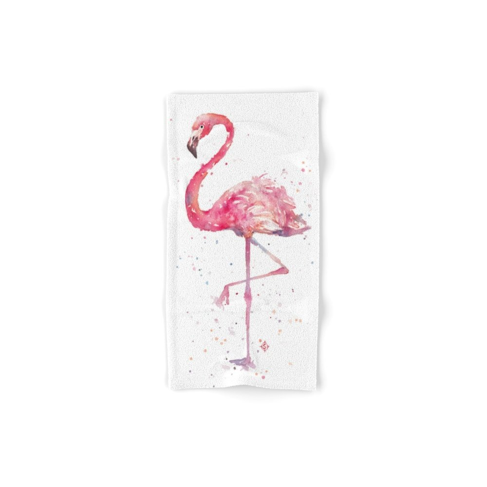 Society6 A Flamingos Fancy Set of 4 (2 hand towels, 2 bath towels) by Society6