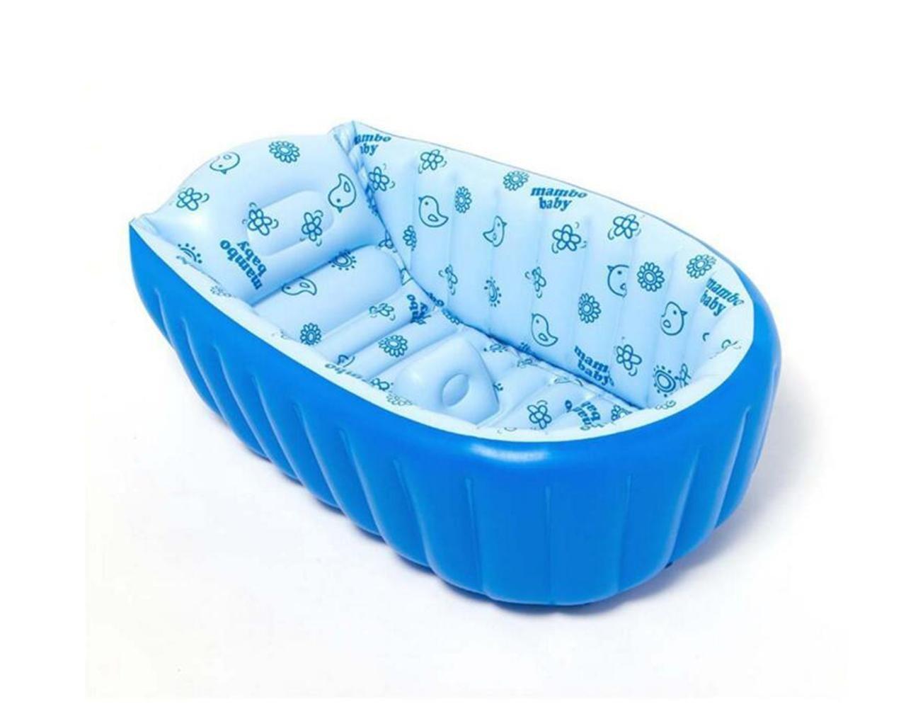 OOFWY Babybadewanne, Sommer-Baby-aufblasbare Badewanne, beweglicher Spielraum aufblasbare Wanne, Kinderbadewanne 0-3 Year Old Baby (90  45  28cm)