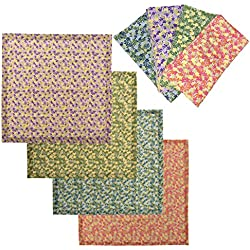 "tag Cloth Napkins Cotton, Set of 8 Petite Floral Print Colored Dinner Table, 20"" x 20"""
