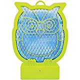Clear Innovation Decorative Glow-In-The-Dark Owl Bug Zapper - 2000 Volts - 10.5'' x 7'' x 2''
