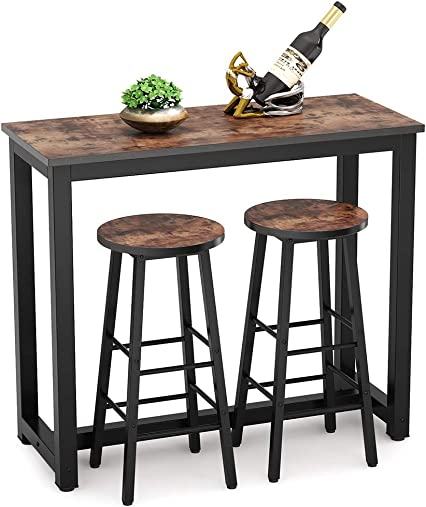 Tribesigns 3-Piece Pub Table Set