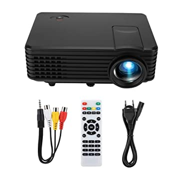 Caredy Mini proyector, proyector LED Mini Video portátil 1080p ...