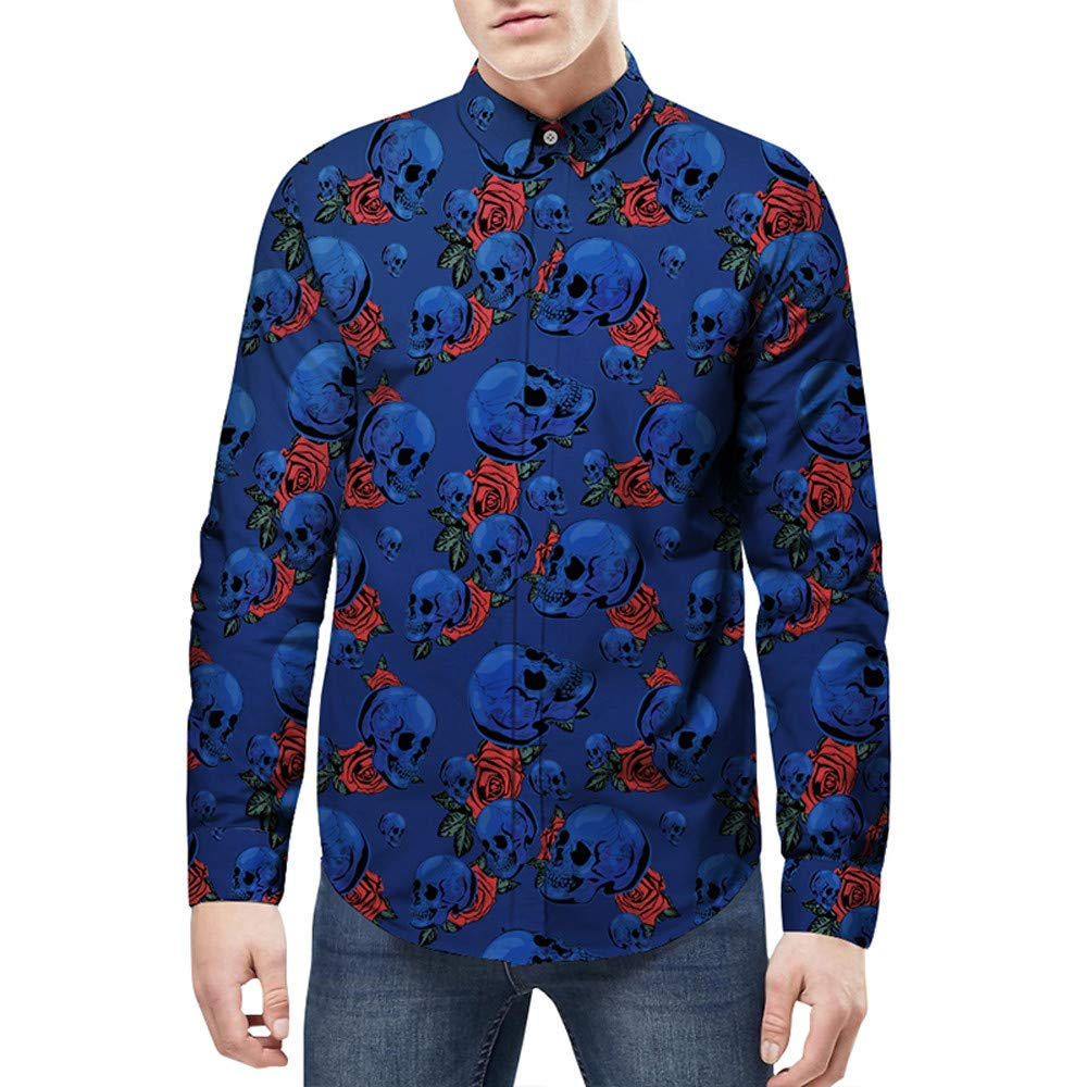 Corriee Fashion Tops for Men 2018 Classic Long Sleeve Star Graffiti Printed Sweatshirts Blouse Casual Slim Party T Shirts