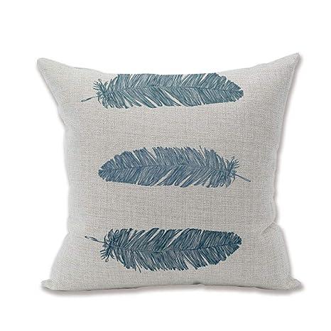 Superpcs Funda de Almohada de Lino de algodón Suave sofá ...