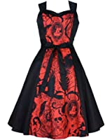 Women's Hemet Red Steampunk Inspired Dress