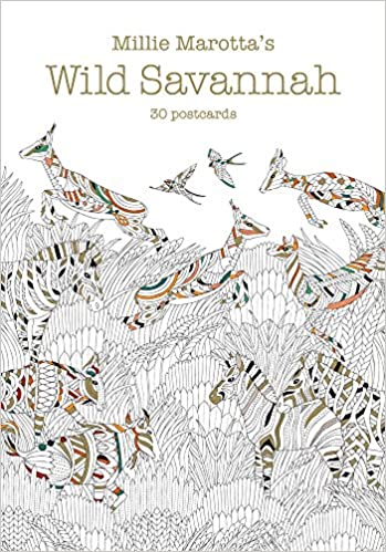Amazon Millie Marottas Wild Savannah Postcard Book 30 Postcards A Marotta Adult Coloring 9781454710097 Books