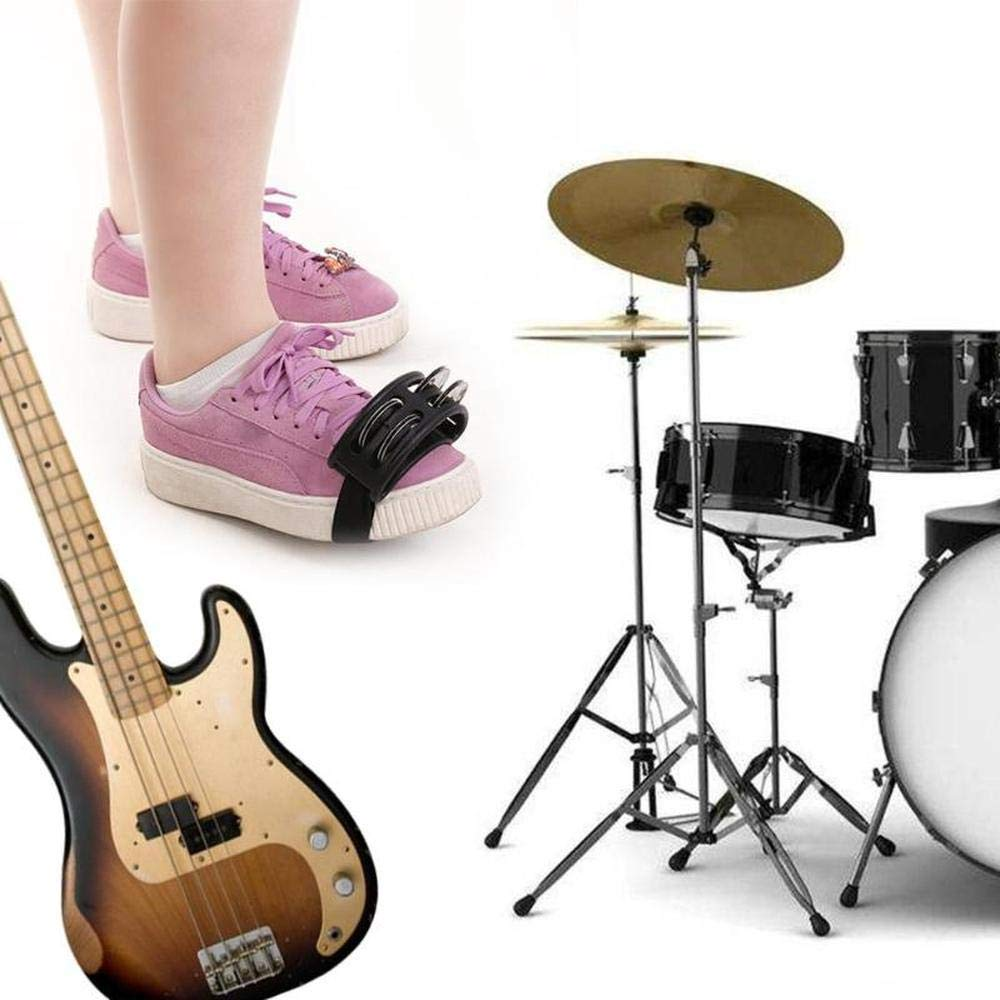 accesorio para bater/ía de acompa/ñamiento clase de m/úsica instrumento musical m/úsicos y cantantes Pie para pandereta de percusi/ón bandas y m/ás guitarras cascabel de metal Aceallin