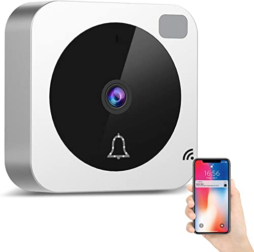 Video Doorbell - Doorbell Camera Wi-Fi with Motion Detector, 185 Wide Angle Doorbell Camera with Night Vision, Camera Doorbell with 2-Way Talk Cloud Storage, Compatible with Alexa Echo Show