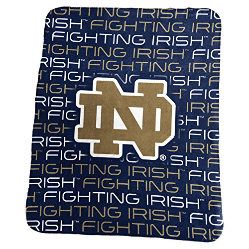 Logo Notre Dame Fighting Irish 50 x 60 Classic Fleece Throw - Navy,