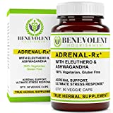 raw adrenal gland extract - Adrenal Support Supplement with Eleuthero & Ashwagandha. Adrenal-RX Helps Best to Boost Body's Natural Resistance to Physical & Mental Stress 100% Vegetarian Gluten Free 90 Veggie Caps