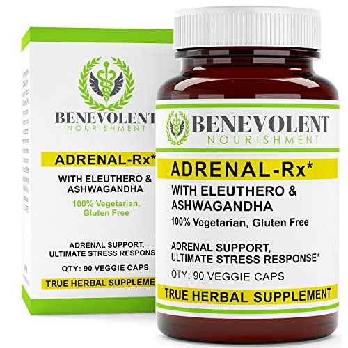 - Adrenal Support Supplement with Eleuthero & Ashwagandha. Adrenal-RX Helps Best to Boost Body's Natural Resistance to Physical & Mental Stress 100% Vegetarian Gluten Free 90 Veggie Caps
