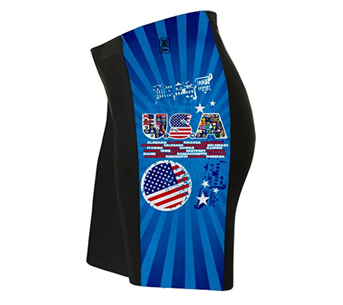 Amazon.com: USA All State Flags Triatlon – Pantalón corto ...