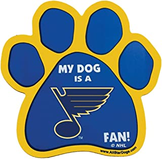 product image for All Star Dogs NHL St. Louis Blues Paw-Shaped Magnet, One Size, Royal