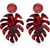 Acrylic Earrings for Women Drop Dangle Leaf Earrings Resin Minimalist Bohemian Statement Jewelry