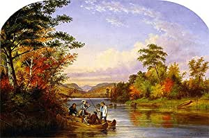 Amazon.com: Cornelius Krieghoff (The Narrows on Lake St. Charles, 1859