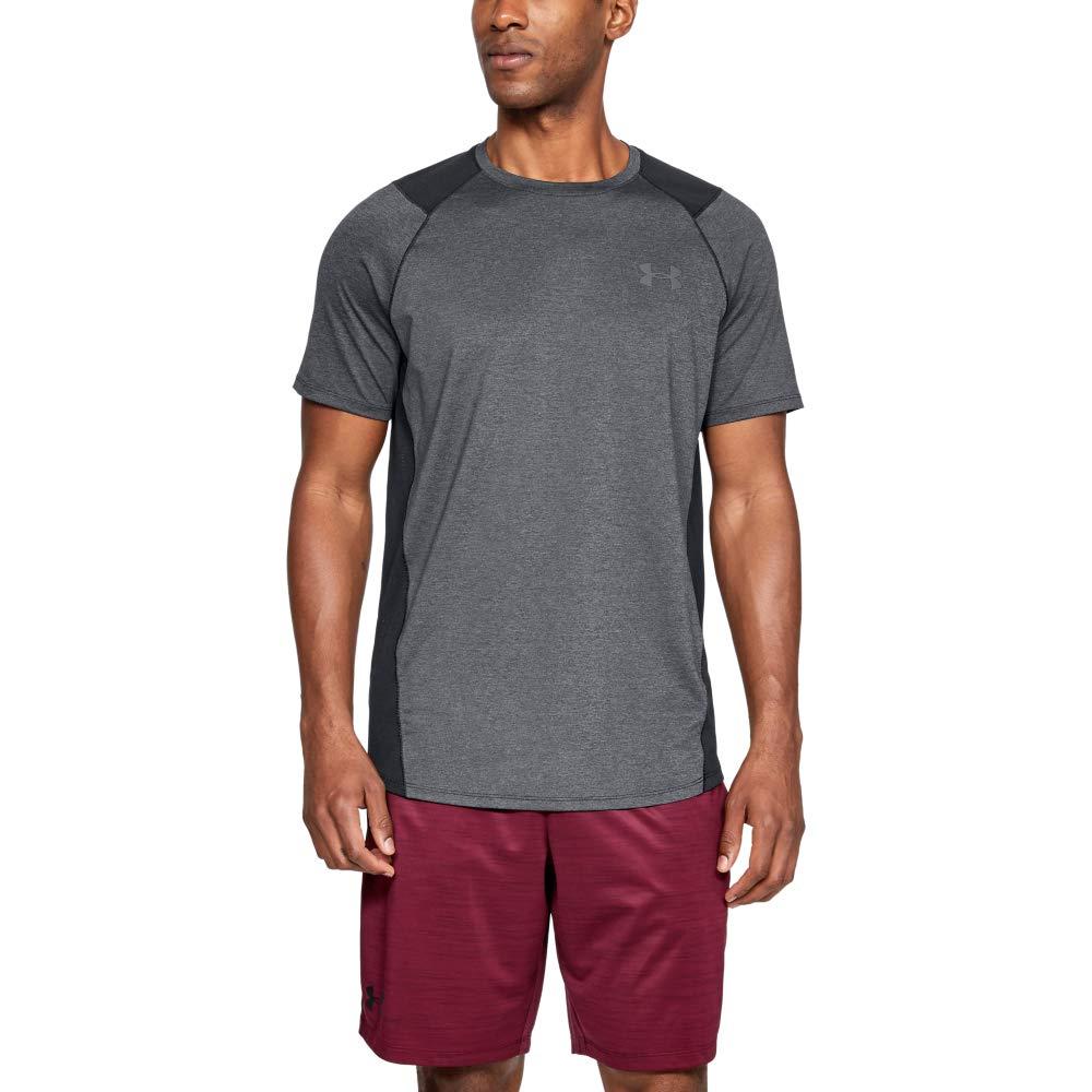 Negro Black//Graphite 003 Hombre Under Armour MK1 Short Sleeve EU SMU Camiseta S