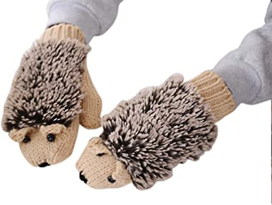 ZTL Cute Winter Knit Gloves for Chidlren Kids Soft Warm Thick Gloves Mittens